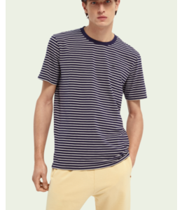 SCOTCH AND SODA CLASSIC STRIPED T-SHIRT - 154386 -