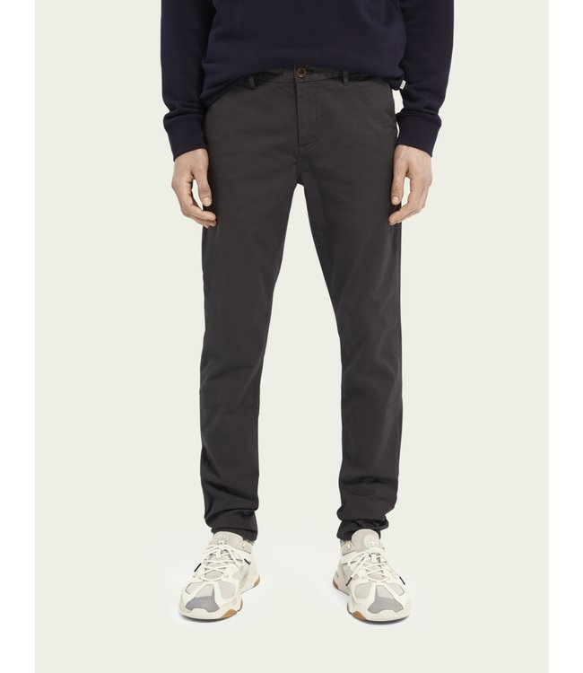SCOTCH AND SODA MOTT CHINO -SUPER SLIM - CHARCOAL -