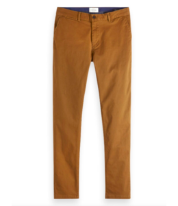 SCOTCH AND SODA MOTT CLASSIC CHINO - SUPER SLIM - CHESTNUT -