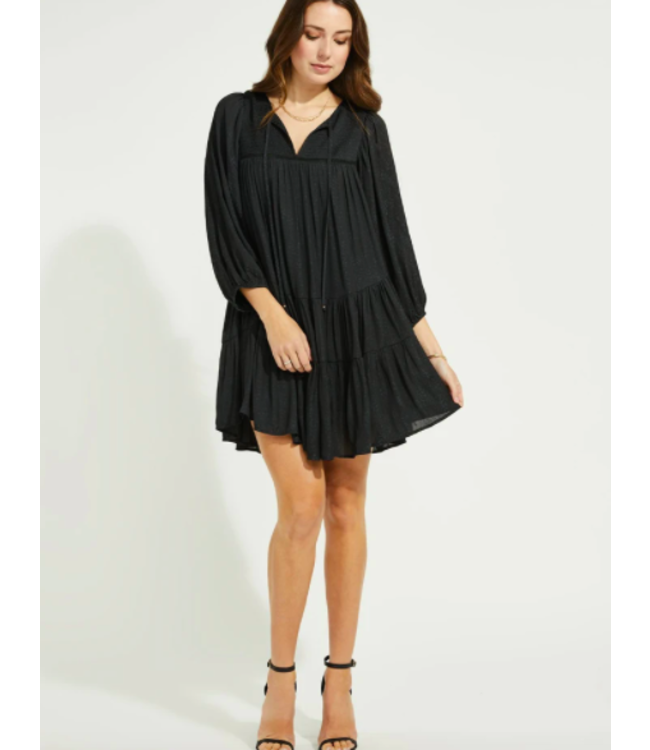 GENTLE FAWN CADENCE DRESS - BLACK -