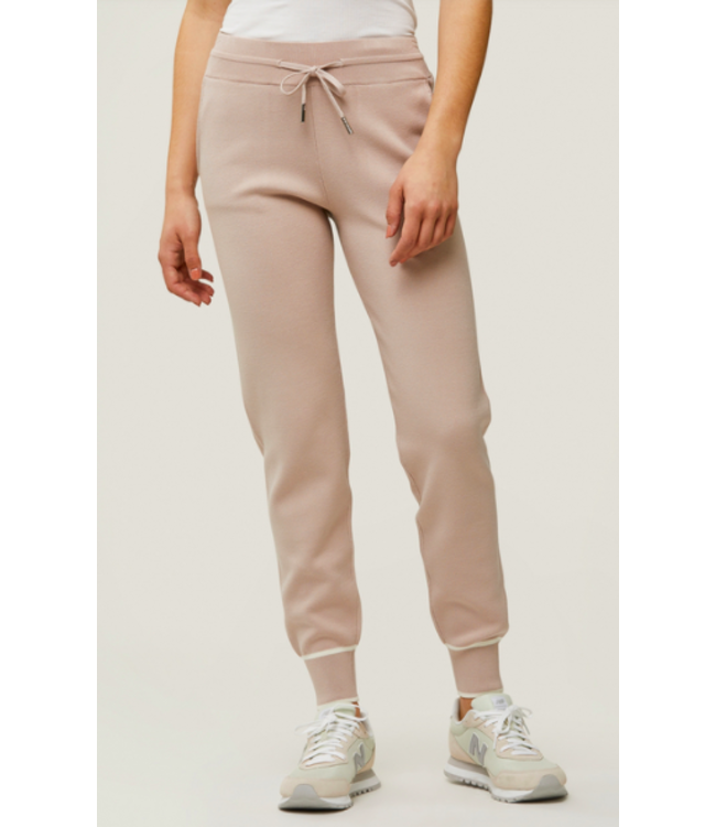 VERONA CUFFED SWEATPANTS -PEARL -