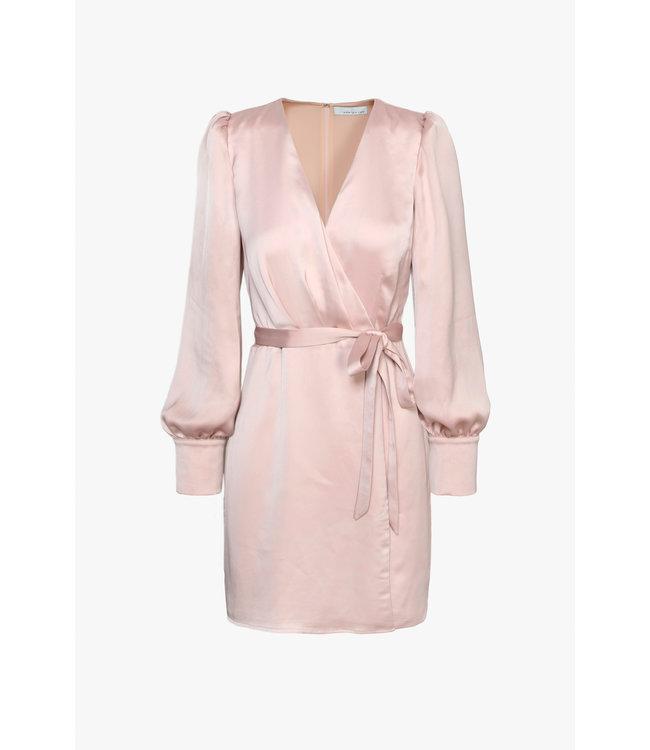 ABBY WRAP SHORT DRESS - PINK -