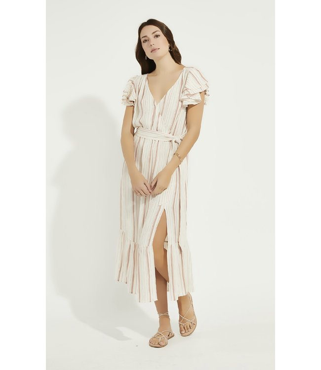 GENTLE FAWN OPHELIA DRESS - NATURAL STRIPE -