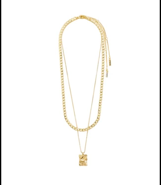 Bathilda Necklace - Gold