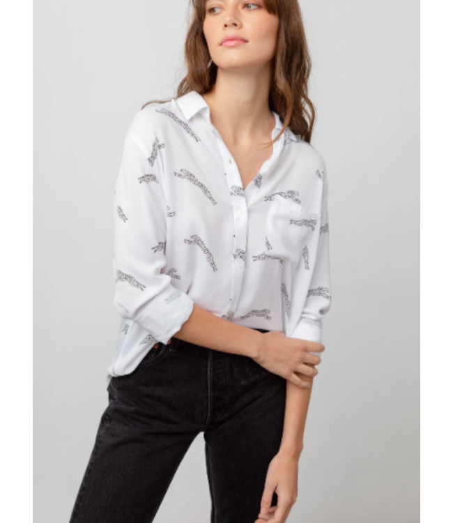 RAILS ROCSI BUTTON DOWN - WHITE JAGUAR -