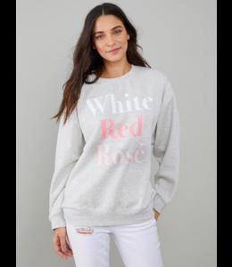 SOUTH PARADE ALEXA CREW - WHITE RED ROSÉ -