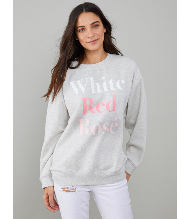 SOUTH PARADE ALEXA CREW - WHITE RED ROSÉ -