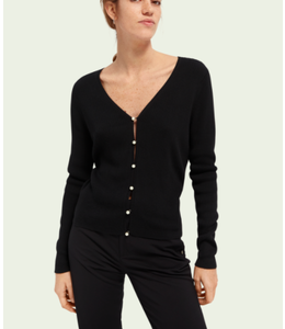 SCOTCH AND SODA Faux peal- classic cardigan -
