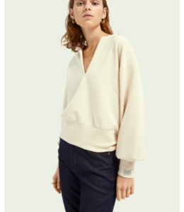 SCOTCH AND SODA Soft sweat with open neck Top -161671-