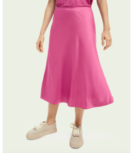 SCOTCH AND SODA Easy midi skirt - Pink -