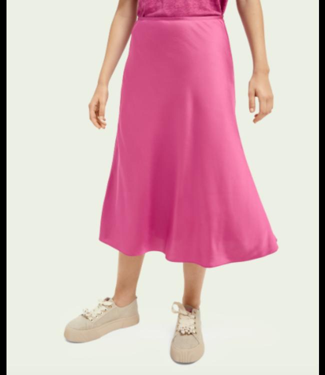 SCOTCH AND SODA Easy midi skirt - Pink -