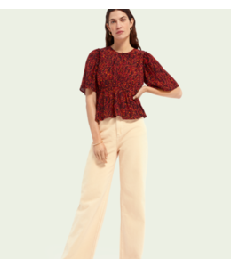SCOTCH AND SODA Cropped top with gathering details - 161472 -