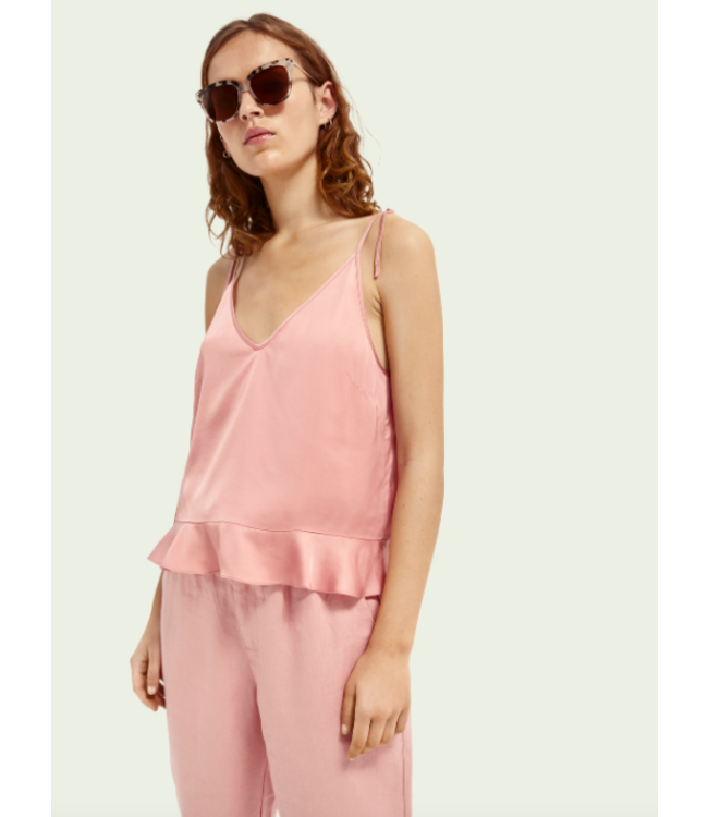 SCOTCH AND SODA Tank in viscose quality - 161735- Pink-