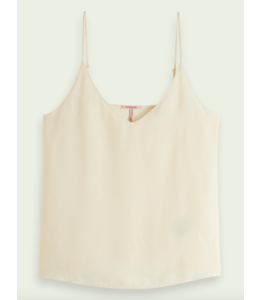 SCOTCH AND SODA Jersey tanktop  -161733 - White -
