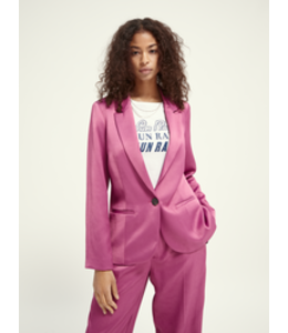 SCOTCH AND SODA Tailored blazer shiny twill - 162190- Pink-