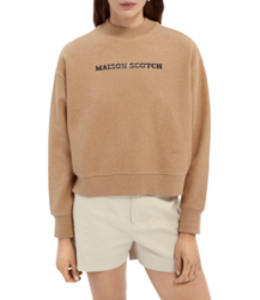 SCOTCH AND SODA Relaxed high neck sweat -161676 -