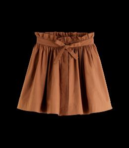SCOTCH AND SODA Voluminous cotton mini skirt -161613-