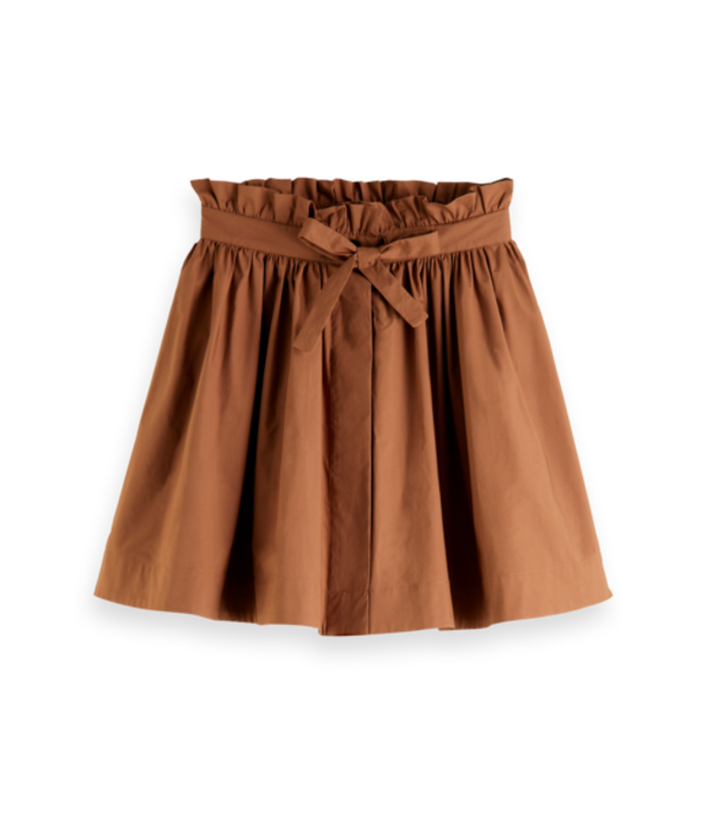 SCOTCH AND SODA Voluminous cotton mini skirt -161613-
