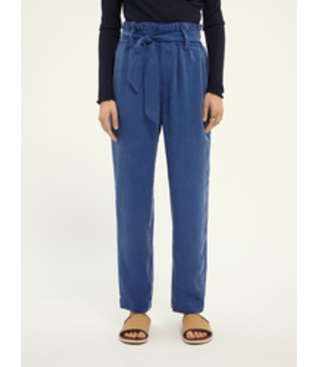 SCOTCH AND SODA High rise ankle length pants with tie at waist -