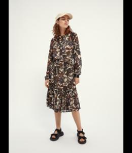 SCOTCH AND SODA Midi dress in drapey jacquard stripe -
