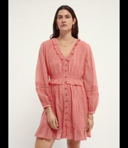 SCOTCH AND SODA Organic cotton midi dress - Coral -