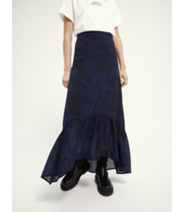 SCOTCH AND SODA Storytelling maxi skirt - Navy -