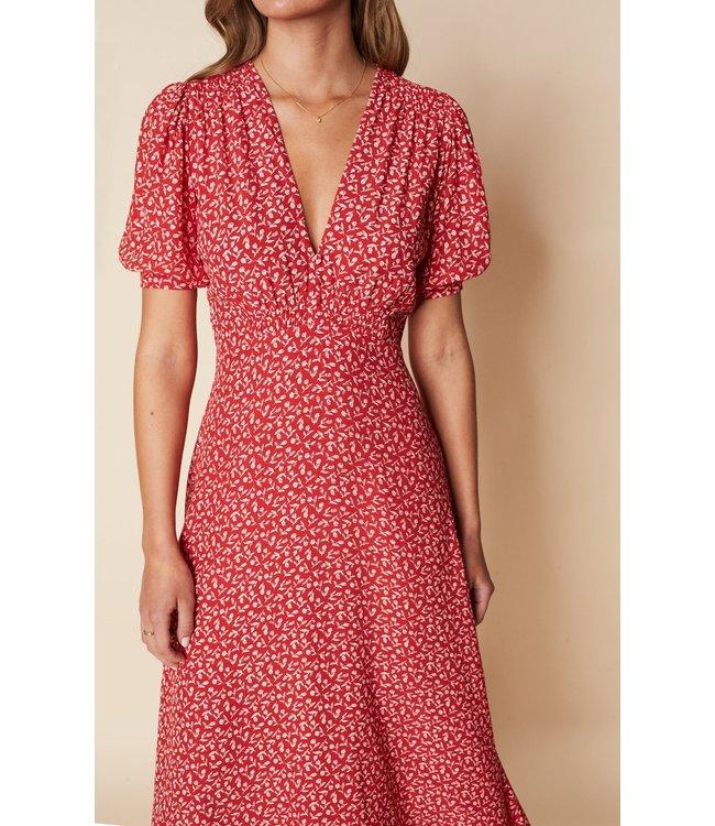 Sonja Midi Dress - Vintage Red -
