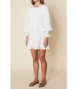 Rosie Mini Dress- Soft Dot White -