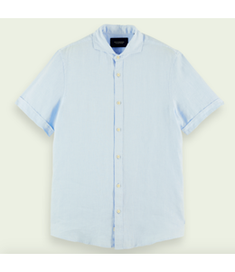 SCOTCH AND SODA Classic Short Sleeve Shirt -  Light blue -
