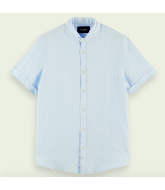 SCOTCH AND SODA Classic Short Sleeve Shirt -  Light blue -