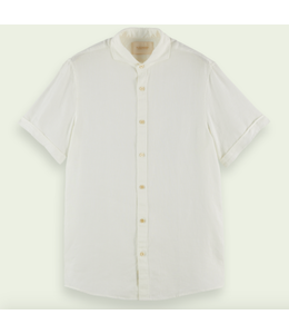 SCOTCH AND SODA Classic Short Sleeve Shirt - White -