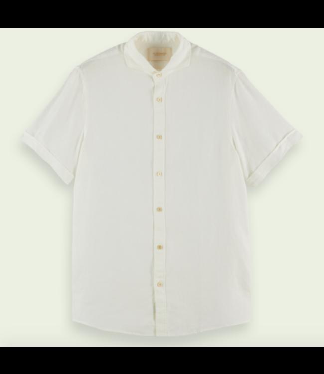 SCOTCH AND SODA Classic Short Sleeve Shirt - White -