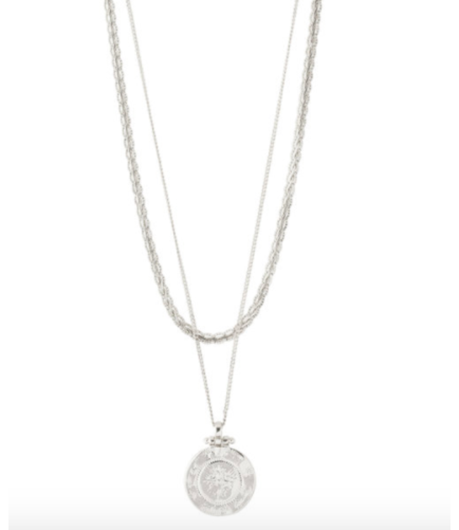 Nomad 2- in - 1 Necklace - Silver