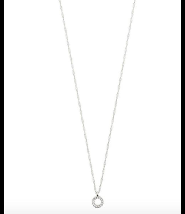 Tessa Crystal Necklace - Silver