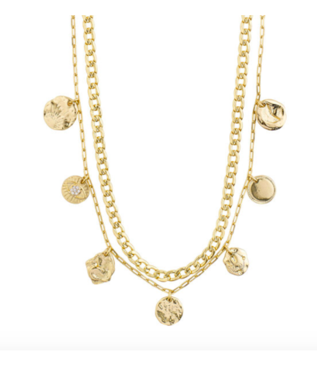 Poesy 2-in-1 Necklace - Gold