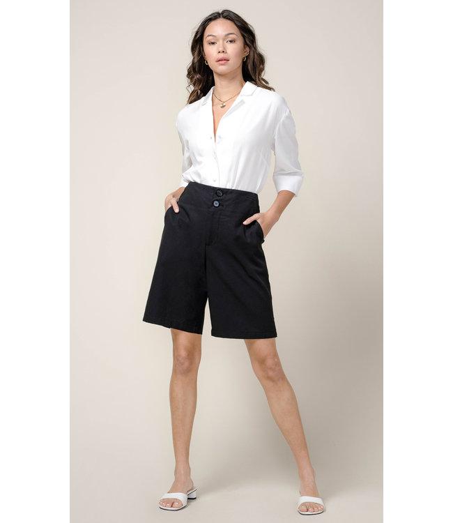 Leslie button up blouse - White -