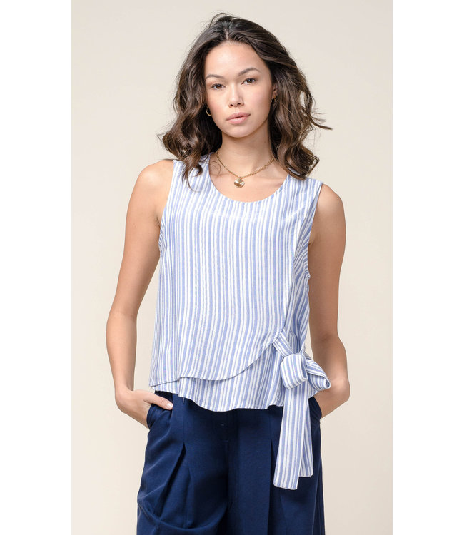 Chelsea yarn dyed top - Blue -