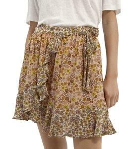 SCOTCH AND SODA Ruffle skirt in crinkled viscose - 161616 -