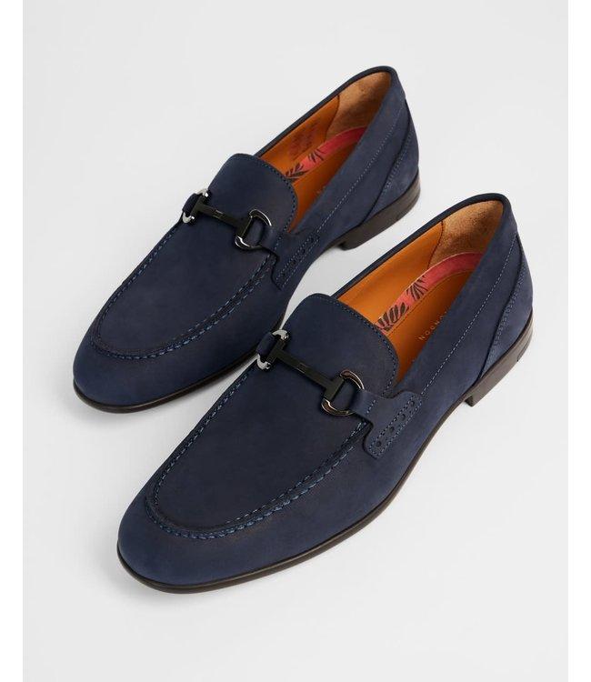 RAYZIN Nubuck saddle loafer - NAVY -