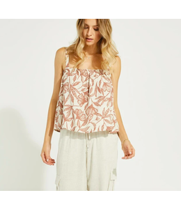 GENTLE FAWN CASCADE TANK - Natural floral -