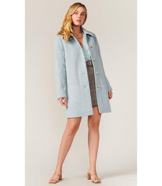 Stewart mid lenght coat- powder blue -