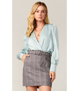 Charles belted skirt - Brown -