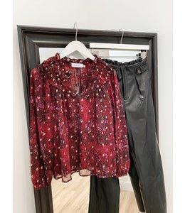Tina lurex chiffon blouse -