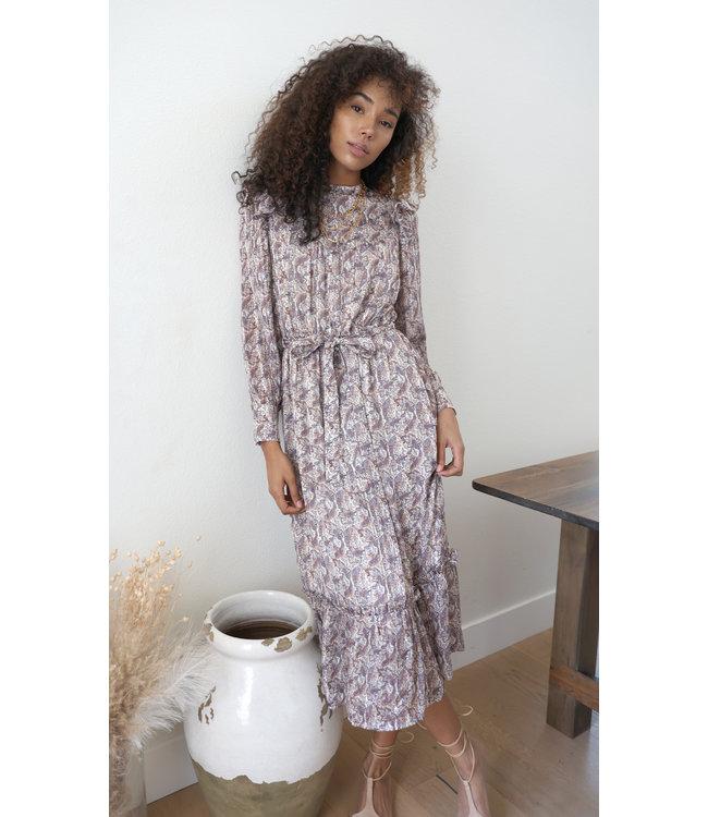 Bliss riffled midi dress -