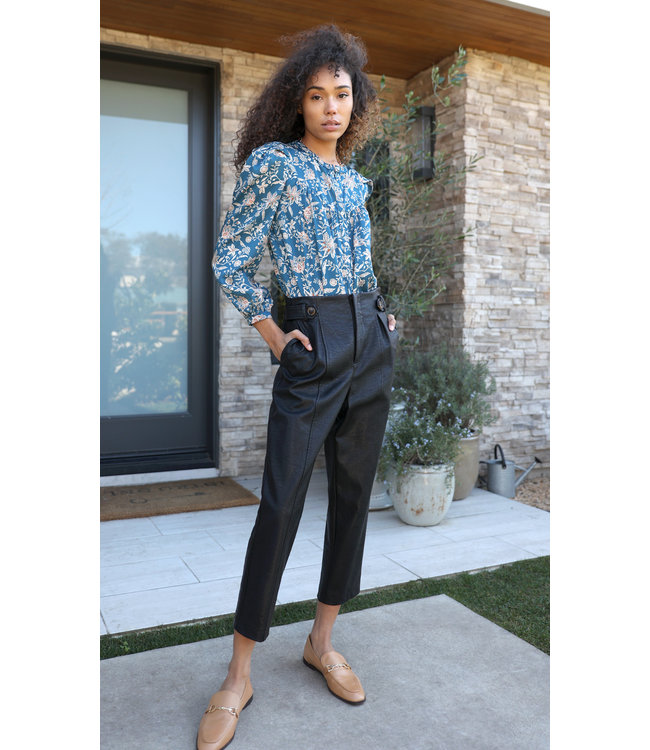 Lilian vegan leather pants-