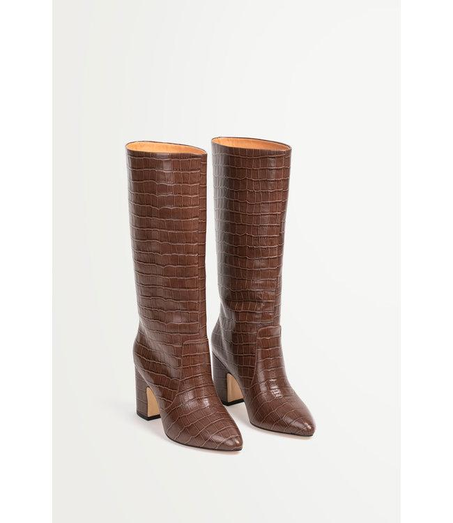 Hildie Croco heeled boots -  36
