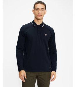 FULHUMM Long sleeved polo shirt - Navy -