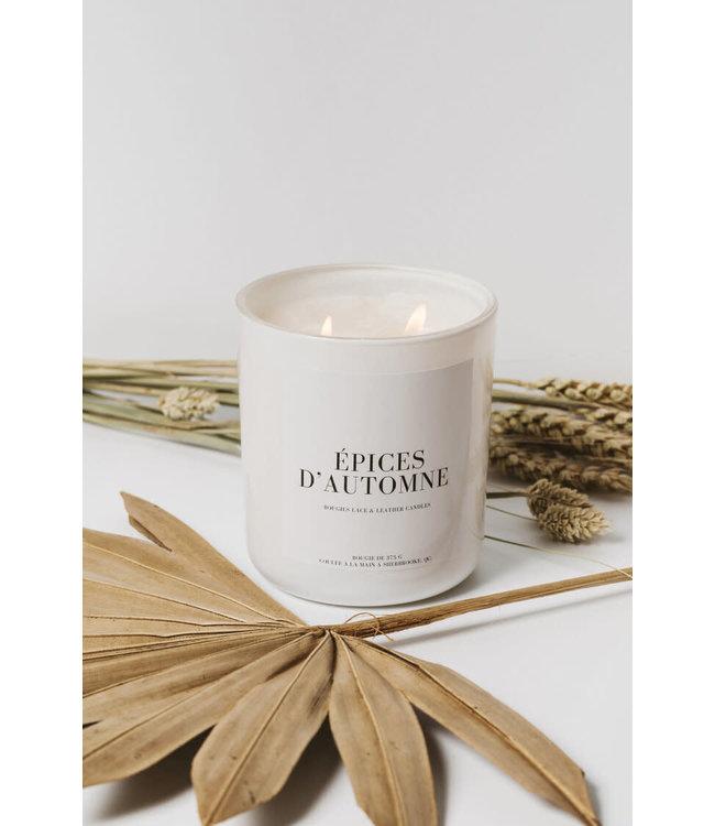 Lace & Leather Candles Épices d'automne Candle