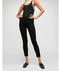 7 FOR ALL MANKIND B(AIR) HIGH WAIST ANKLE SKINNY IN BLACK-