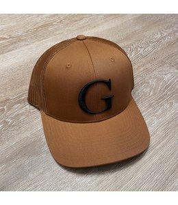 GLORIUS CAP - G WHITE ON CAMEL